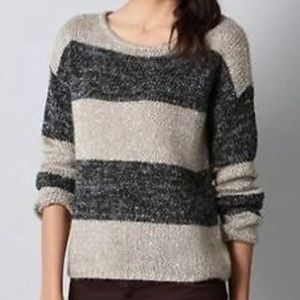 Ann Taylor Loft Wool Blend Striped Sequins Sweater
